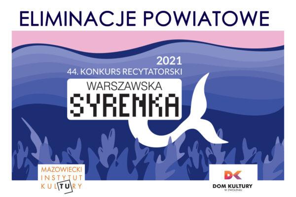 Plakat Eliminacji Powiatowych Warszawska Syrenka