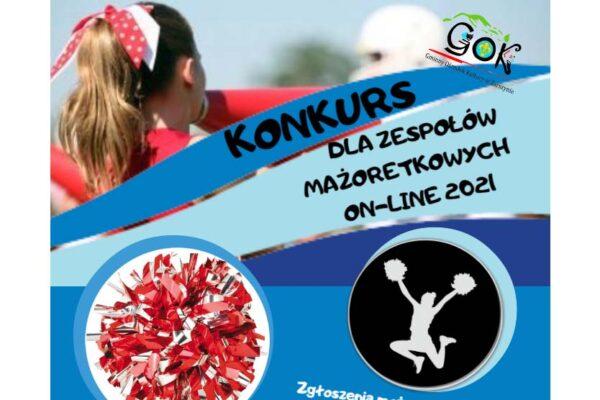Plakat konkurs dla zespołów mażoretkowych Pląs